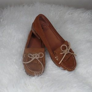 Lucky Brand Brown Suede Loafers size 6